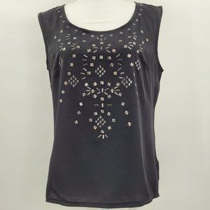 Jessica Simpson Black Embellished Tank Top